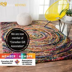 Rugs Beyond offers a stunning and vibrant range of Area Rugs in Mississauga,Brampton And Vaughan. We have a wide collection of floor coverings & Home furnishings to make your home elegant and charming. Canadian Gifts, Spring And Fall, Poufs, Rug Store, Fall 2018, Wall Hangings, Home Furnishings, Area Rugs, Cushions