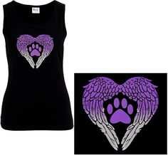 Wings of an Angel Purple Paw Tank Top at The Animal Rescue Site