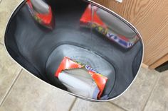 keep the box of liners at the bottom of the can!
