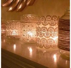 Lace maison jars
