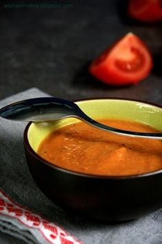 #Pumpkin & Tomato Cream #Soup with Gingerbread