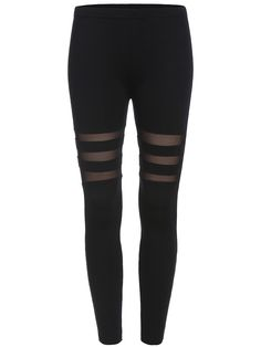 Black Skinny Sheer Mesh Leggings 9.99