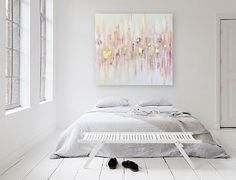 """'SOJOURN' original abstract painting by Linnea Heide - 36""""x36"""" acrylic on canvas…"""
