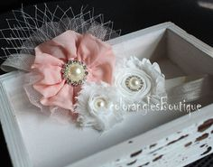 Flower Girl headband baby hairbows newborn by coloranglesBoutique