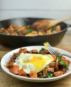 Chorizo Sweet Potato Kale Hash