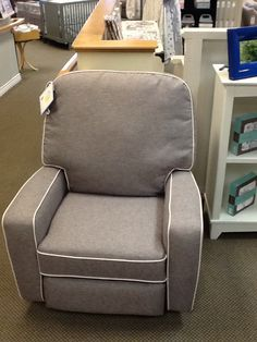 Bilana Recliner Shown in mist with cotton cording $599 as shown