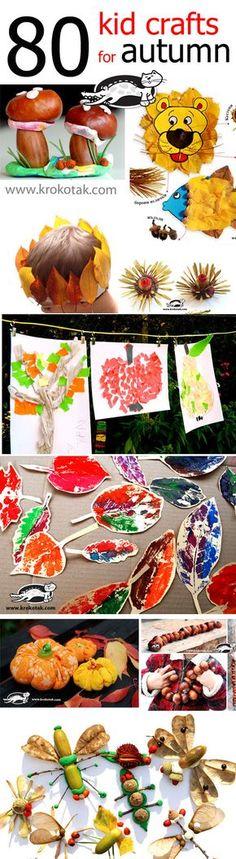 80 FALL kids crafts