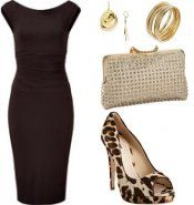 The Little Black Dress always goes great with gold accessories.