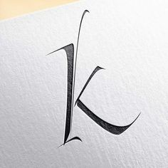 Calligraphy, Lettering & Tattoo Available for interesting projects and commissions. Letter K Font, Letter K Tattoo, Letter K Design, Calligraphy Alphabet, Typography Letters, Typography Logo, Typography Design, Calligraphy Logo, Letterpress