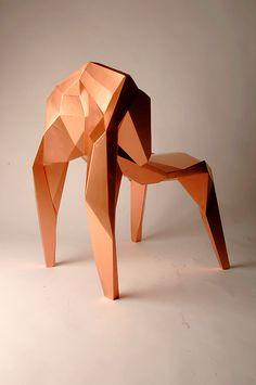 Copper | 銅 | Cobre | медь | Cuivre | Rame | Dō | Metal | Mettalic | Colour | Texture | Pattern | Style | Form | kant chair by benjamin nordsmark