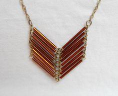 Tribal Necklace - Chevron Necklace - Native American Necklace via Etsy