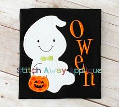 Boy Ghost Applique - 4 Sizes! | What's New | Machine Embroidery Designs | SWAKembroidery.com Stitch Away Applique