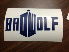 Bad Wolf Doctor Who decal by VinylsaurusRex on Etsy, $5.00