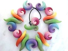 FREE TUTORIAL: striped polymer clay beads.