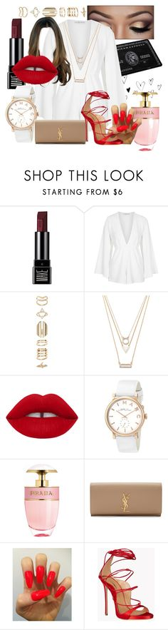 """""""Untitled #15"""" by erin-renee4 ❤ liked on Polyvore featuring Make, Rare London, Accessorize, Forever 21, Marc by Marc Jacobs, Prada, Yves Saint Laurent and Dsquared2"""