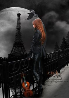 Angel After Dark. Top Gothic Fashion Tips To Keep You In Style. Consistently using good gothic fashion sense can help Dark Gothic Art, Gothic Fantasy Art, Beautiful Dark Art, Arte Obscura, Goth Art, Tour Eiffel, Dark Beauty, Gothic Girls, Dark Side
