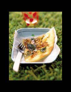 Tarte aux oignons nouveaux, anchois marinés