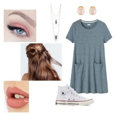"""Cute lazy day dress"" by calliesusanne on Polyvore featuring Toast, Converse, Charlotte Russe, Kenneth Jay Lane and Charlotte Tilbury"
