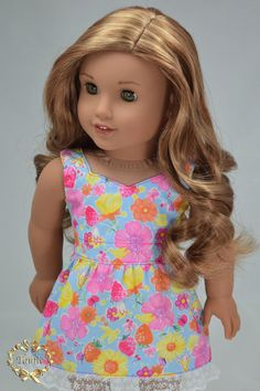 American girl doll clothes   Summer Dress  Only by PurpleRoseNY2nd