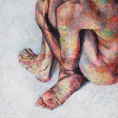 """Love the way that David Agenjo has """"described"""" the body with paint in his painting """"Intimacy"""".  by"""