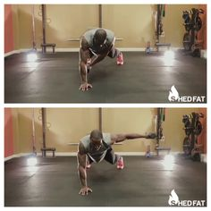 One hand Plank with weight