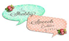 Free Printables, Shabby Speech bubbles...perfect for scrapbooking!