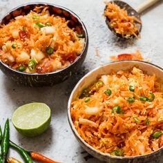 Light & refreshing, this Sri Lankan Carrot Salad (Carrot Sambal) only takes 10 mins or under to make.
