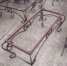 Wrought iron coffee table base $399 Lone Star Traders Frisco, TX