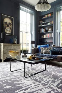 Moody Blues - Living Room Furniture  Designs - Decorating Ideas (houseandgarden.co.uk)