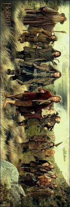 The Hobbit: An Unexpected Journey - The Company Panoramic Poster. I want this for me room.: