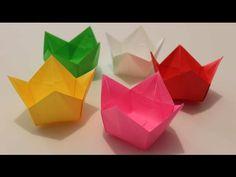 origami paper - origami tulip box - YouTube