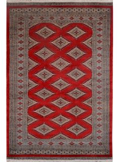 "Red Oriental Jaldar Rug 4' 1"" x 6' 2"" (ft) - No. 13085  http://alrug.com/red-oriental-jaldar-rug-4-1-x-6-2-ft-no-13085.html"