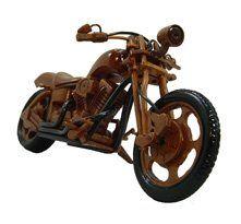 Chopper Motorcycle Wooden Model
