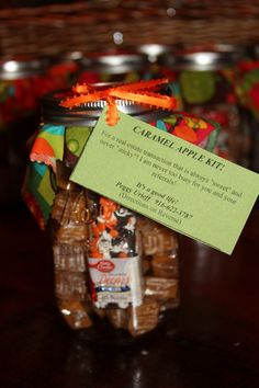 caramel jar pop by ideas Customer Appreciation, Appreciation Gifts, Real Estate Business, Real Estate Marketing, Real Estate Staging, Real Estate Gifts, Little Presents, Volunteer Gifts, Visiting Teaching