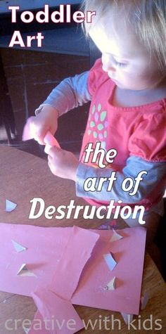 "Artsy Things To Do With Toddlers Things to destruct.errr, I mean to do with toddlers. A list of toddler ""art"" activitiesThings to destruct.errr, I mean to do with toddlers. A list of toddler ""art"" activities Preschool Art, Toddler Preschool, Toddler Crafts, Crafts For Kids, Art Activities For Toddlers, Preschool Activities, Art With Toddlers, Skirt Mini, Toddler Play"