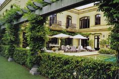 loft & cottage: from the idea book: garden & exteriors {arbor like this on south end of pool}