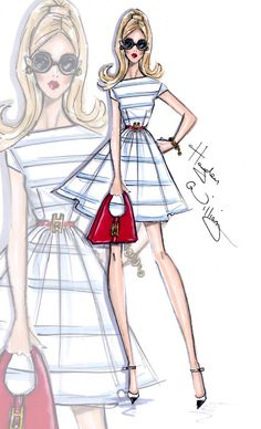 #Hayden Williams Fashion Illustrations #'Summer Stripes' by Hayden Williams
