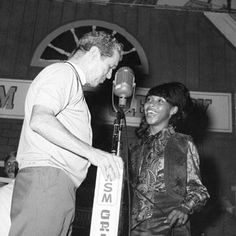 Roy Acuff introduces Linda Martel, the first female African-American artist on the Grand Ole Opry.