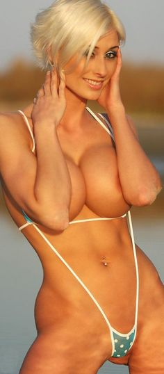 MICRO-BIKINI HEAVEN! BUSTY & ATHLETIC DREAM BEACH BODY of sexy #Fitness model : Health, Gym & #Fitspiration - the best #Inspirational & #Motivational Pins by: http://cagecult.com/mma