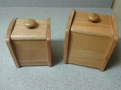 wooden canisters in Tidyingup's Garage Sale Helena, MT for $3.00. Set of two wood storage canisters. They have removable plastic insides for washing.