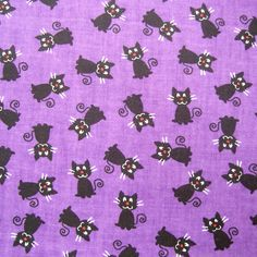 Halloween Spooky Prints Fabric-Black Cats at Joann.com