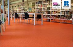 Neoflex 800 Series Commercial Rubber Flooring @ Alblasserdam Public Library, The Netherlands