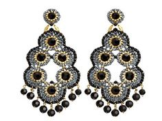 Luxury Fashion Blog Haute Mimi International By Millissa Mathai | Hand Knotted Chandelier Earrings By Miguel Ases | http://www.hautemimi.com