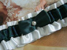 Tartan Garter Blackwatch by bridesstudio on Etsy, $25.00