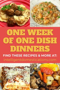 Make any of these 7 One Dish Dinner Recipes for easier dinner ideas. Most of them are good leftover and none are expensive to prepare. Crockpot recipes, stove top recipes and even a popular foil pack dinner. #dinnerideas Stove Top Recipes, Pork Recipes, Crockpot Recipes, Foil Pack Dinners, One Dish Dinners, Easy Weeknight Meals, Easy Meals, Holiday Recipes, Dinner Recipes