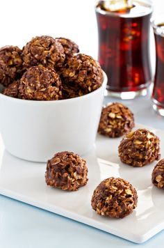 Chocolate Almond Butter Granola Bites