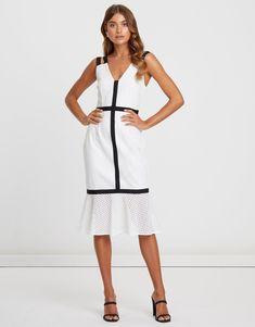 Marcella Lace Midi Dress