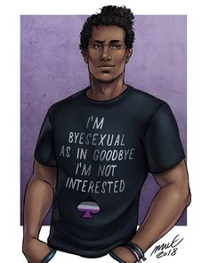Posted this doodle of Gerry a while ago... Here's a finished version! Inspired by a shirt I saw online #digitalart #asexual #asexualpride #myoc #instaart #drawings #fb