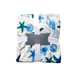 """Legacy & Main Starfish Luxury Throw Blanket *Closeout Deal* •Starfish Pattern •Approx. 50"""" x 70"""" •100% Polyester •Machine wash cold •Imported •Sold by Stella Saksa •Brand New Luxury Throws, Starfish, Cold, Blanket, Pattern, Collection, Things To Sell, Patterns, Rug"""