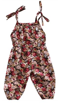Baby girl casual romper Floral perfection 2 styles available Dress your little fashionista in this classy romper Frocks For Girls, Kids Frocks, Little Girl Outfits, Toddler Girl Dresses, Little Girl Fashion, Toddler Outfits, Kids Outfits, Toddler Girl Style, Toddler Fashion